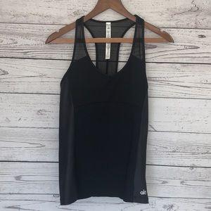Alo Yoga Black Athletic Tank Top Size Large